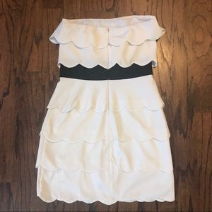 Lush Dresses - Lush white scallop mini dress